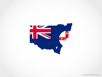 Vector Map of New South Wales   Flag   Free Vector Maps Free Vector Map of New South Wales   Flag