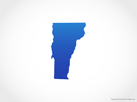 Montpelier has the fewest residents o. Vector Map Of Vermont Blue Free Vector Maps