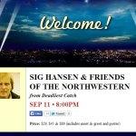 SIG HANSEN & FRIENDS OF THE NORTHWESTERN, September 11 – 8PM