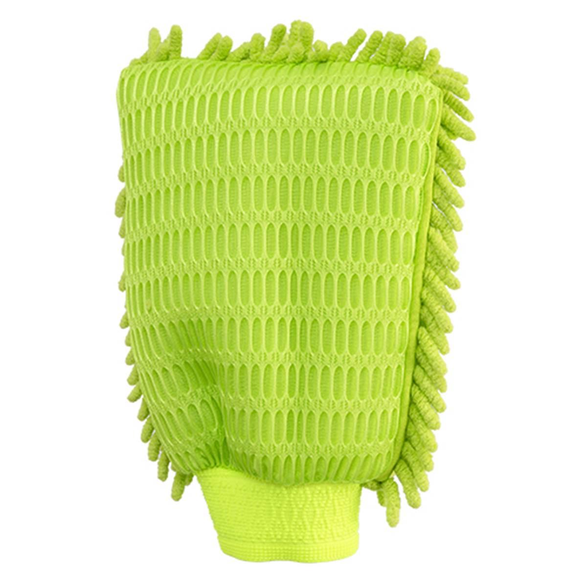 gant de lavage microfibre haute performance feu vert