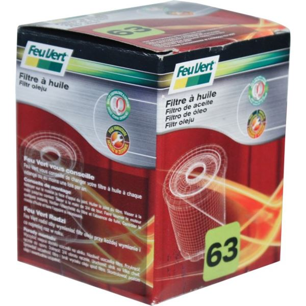 filtre a huile feu vert n 63