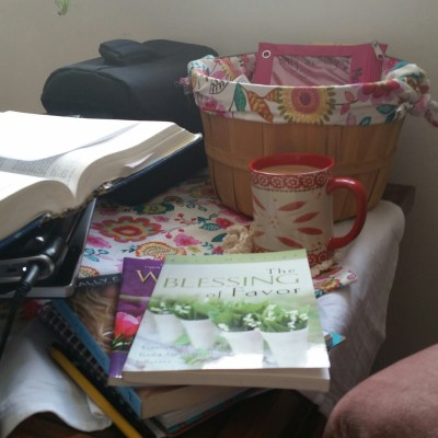 DIY Bible Study Basket and Personal Study Space
