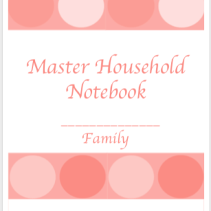 Master Household Notebook