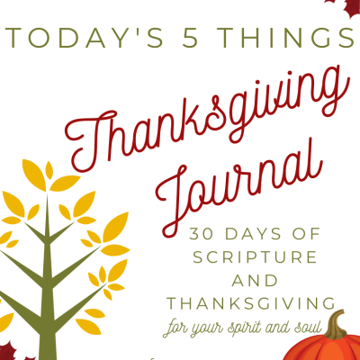 Printable Today's 5 Things Thanksgiving Journal