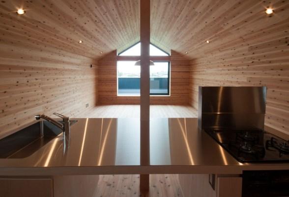 神戸町の家 キッチンのシンクは3方向から使えるようになっています