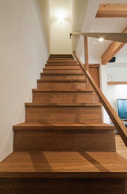 アンドの家 LDKにある階段はお子さんに大人気