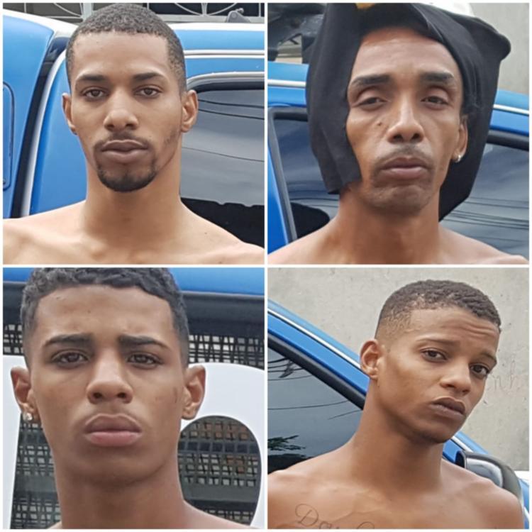 Suspeitos foram localizados após rondas de policiais em Pirajá