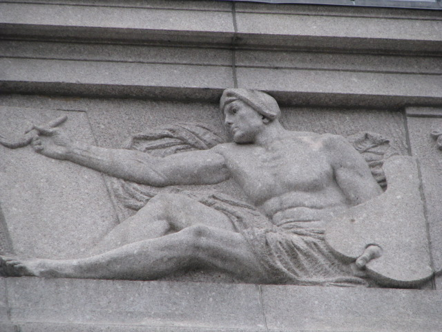 "MFA Evans Wing Granite Relief ""Painting,"" 1914"