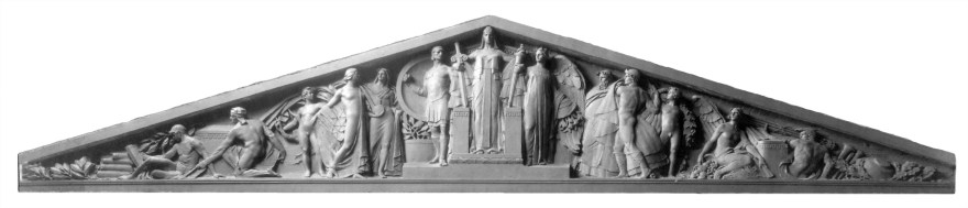 Original Clay Model of Pediment for Guy Lowell's Courthouse
