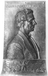 Final Bronze of Lincoln, Frederick Warren Allen, Sculptor, 1922, A gift of Robert Todd Lincoln to the New England Historic Genealogical Society