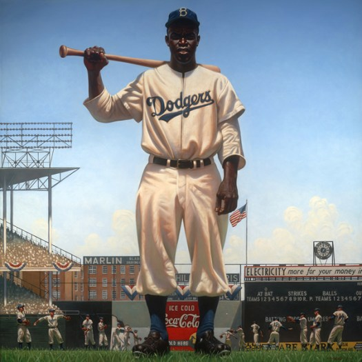 Kadir Nelson's Painting of Jackie Robinson