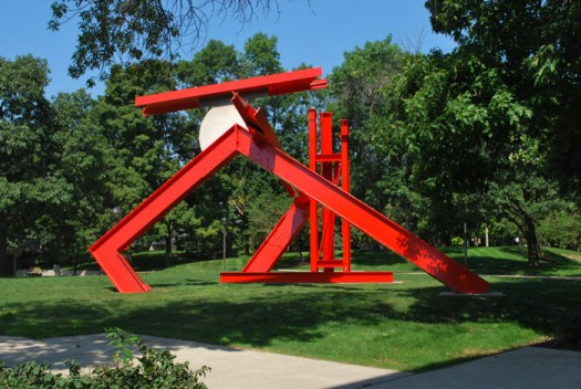 Mark di Suvero's sculpture is abstract.