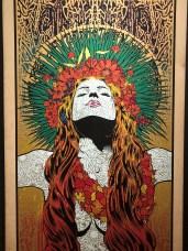 Chuck Sperry, American. Thalia. Silkscreen on birch panel, 7 layers, 2013. Courtesy of the Artist.