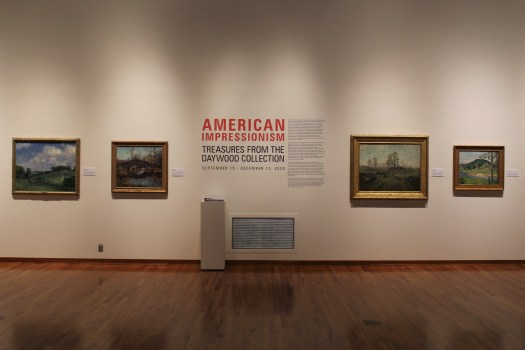 A gallery shot of the exhibition American Impressionism.