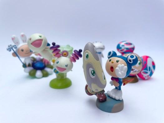 A grouping of Kaiyodo anime and manga figurines.
