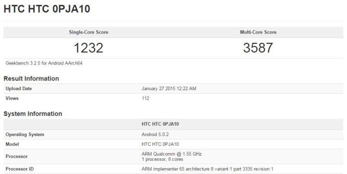 HTC One M9 benchmark