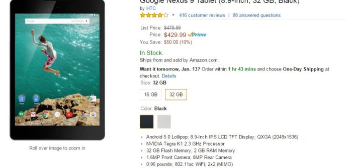 Nexus 9 sale