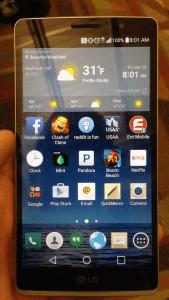 LG G4 homescreen