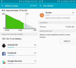 Galaxy S6 edge battery life