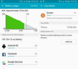 Galaxy S6 edge battery life