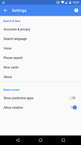 Android M Developer Preview homescreen rotation setting