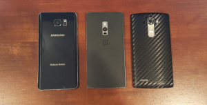 OnePlus 2 compared to G4 and Note 5