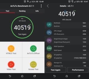 HTC One A9 AnTuTu Benchmark