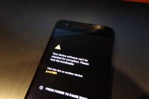 Nexus 6P bootloader warning