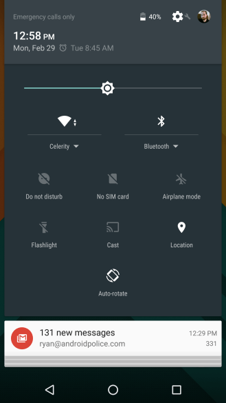 Android M quick settings