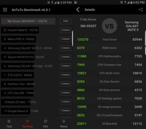 Galaxy S7 edge AnTuTu Benchmark Score