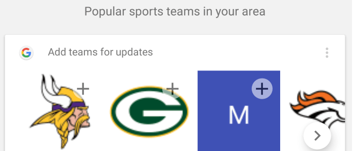 Google Now suggestions feature photo