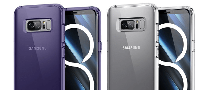 Galaxy Note 8 in case