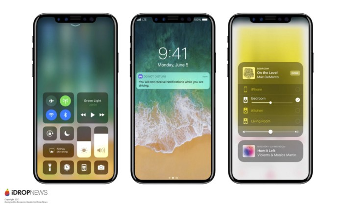 iPhone 8 near bezel-less display