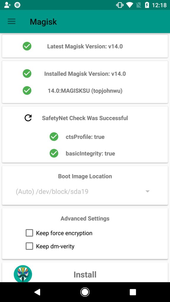 Magisk Safety Net Pixel and Pixel XL