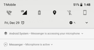 App accessing your Android's microphone in background