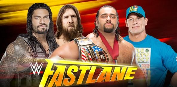 WWE Fastlane - Cena, Rusev, Bryan, Reigns