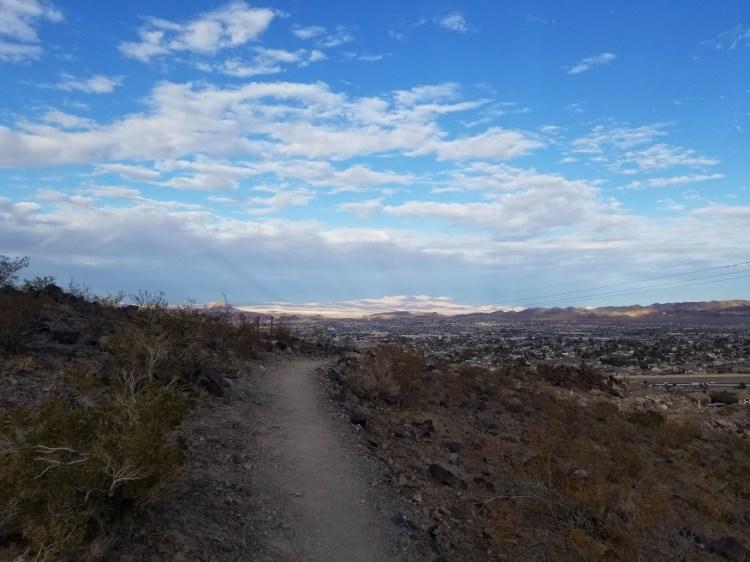 outdoors in the Mojave
