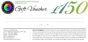 £150 Photography Gift Voucher