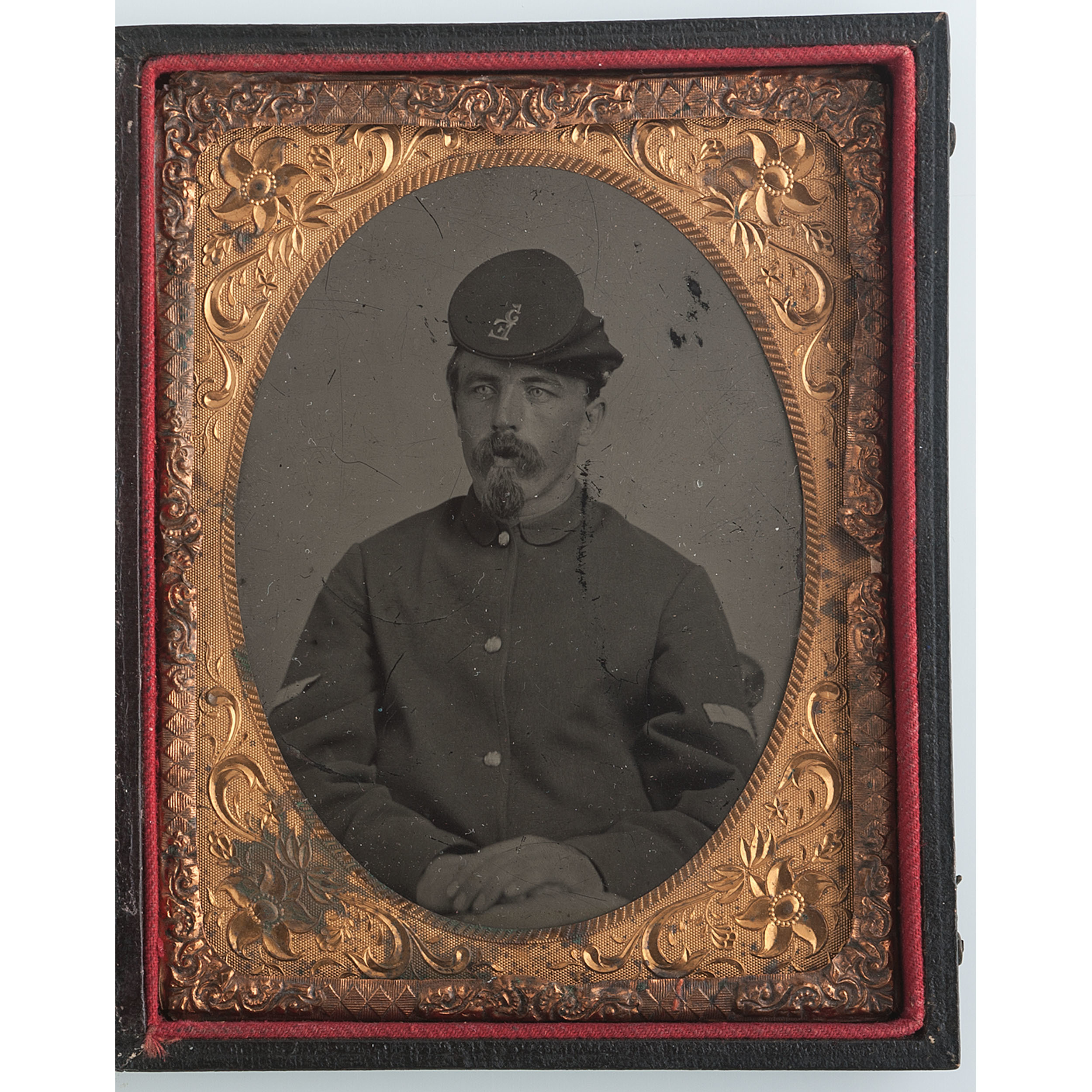 Quarter Plate Tintype Of Corporal Henry L Tibbetts 5th