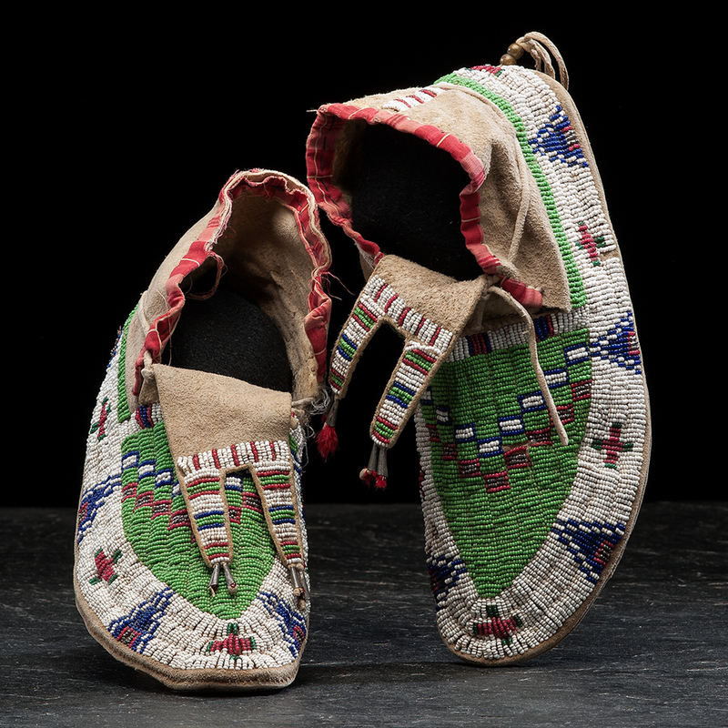 Sioux Beaded Hide Moccasins Cowan S Auction House The