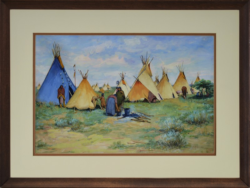 Camp with Blue Tepee c. 1900