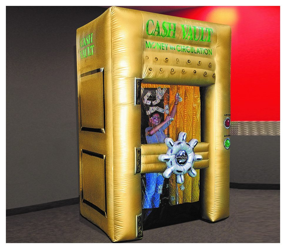 Inflatable Money Machine Cash Vault Rental Fantasy