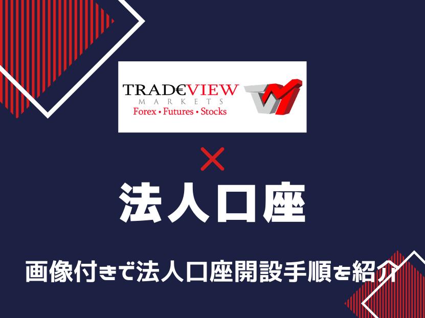 tradeview トレードビュー 法人口座