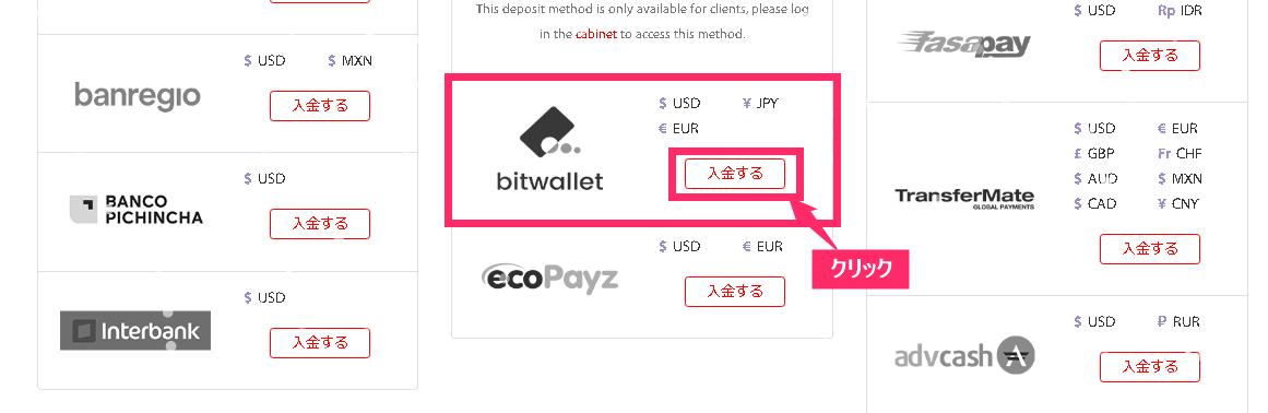 tradeview bitwallet 入金方法