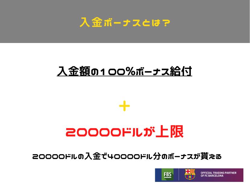 FBS 入金ボーナス 図形