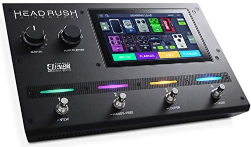 HeadRush Gigboard | Extremely-Transportable Guitar FX and Amp Modelling Processor With Eleven HD Expanded DSP Software program, 7-Inch Touchscreen, Inbuilt Looper, IR Help and USB Audio Connectivity