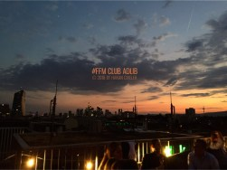 Frankfurter Skyline vom Club AdLib