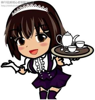 メイド喫茶 ウェイトレス 女性 女の子