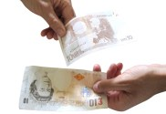 Foreign exchanging hands