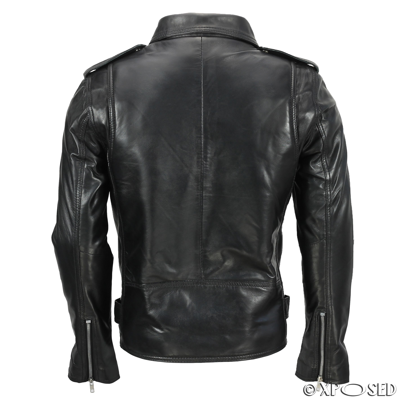 Mens Leather Cross Belt